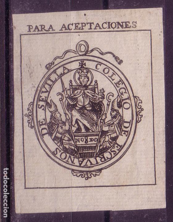 ZZ13-FISCALES COLEGIO ESCRIVANOS SEVILLA . PARA ACEPTACIONES (Sellos - España - Otros Clásicos de 1.850 a 1.885 - Nuevos)