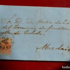 Sellos: CARTA BURGOS MATASELLO TIPO TREBOL A MADRID. FECHADOR TIPO TREBOL Y TIPO PUENTE MADRID. Lote 77601413