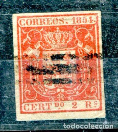 EDIFIL 25 S. 2 REALES, AÑO 1854. BARRADO. (Sellos - España - Otros Clásicos de 1.850 a 1.885 - Nuevos)