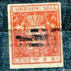 Sellos: EDIFIL 25 S. 2 REALES, AÑO 1854. BARRADO.. Lote 88172371