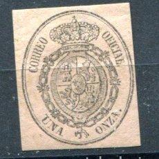 Sellos: EDIFIL 36. UNA ONZA. ESCUDO DE ESPAÑA. SERVICIO OFICIAL, AÑO 1855. NUEVO SIN GOMA.. Lote 88175352