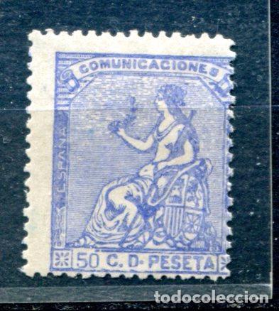 EDIFIL 137. 50 CTS. ALEGORÍA DE ESPAÑA. NUEVO CON FIJASELLOS. (Sellos - España - Otros Clásicos de 1.850 a 1.885 - Nuevos)