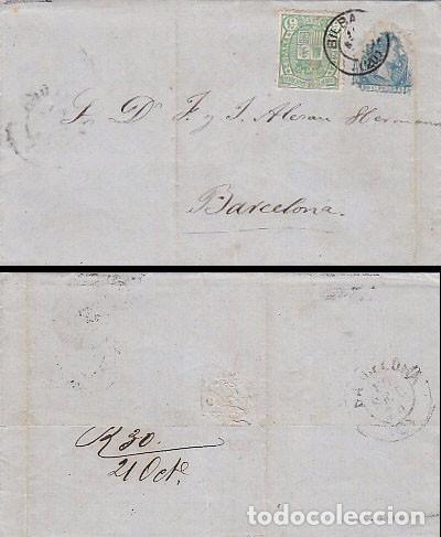 FECHADOR DE BILBAO, SOBRE CIRCULADO CON EDIFIL Nº 154 EL 24-9-1875 (Sellos - España - Otros Clásicos de 1.850 a 1.885 - Cartas)