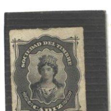 Sellos: ESPAÑA - CADIZ 1875 -SOCIEDAD DEL TIMBRE - SIN GOMA. Lote 98411779