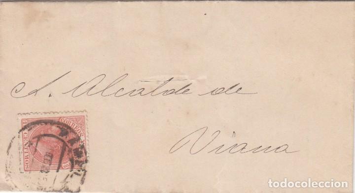 CARTA: 1875 - 1885 ALCALDE DE VIANA (NAVARRA) (Sellos - España - Otros Clásicos de 1.850 a 1.885 - Cartas)