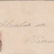 Sellos: CARTA: 1875 - 1885 ALCALDE DE VIANA (NAVARRA). Lote 101626439