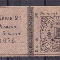 Sellos: CL5-23-FISCALES COLEGIO NOTARIAL PROVINCIA ALICANTE 3 PTAS . NUEVO ** SIN FIJASELLOS. Lote 127574979