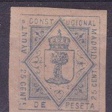 Sellos: AA13-FISCALES MUNICIPALES MADRID 25 CTS NUEVO.*CON FIJASELLOS. Lote 105656287