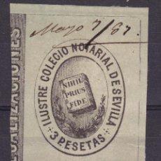 Sellos: AA13-FISCALES COLEGIO NOTARIAL SEVILLA 3 PTAS. Lote 105656539