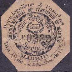 Sellos: CL2-29-FISCALES LEGALIZACIONES 3 PTAS COLEGIO NOTARIAL MADRID. Lote 105937395