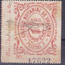 Sellos: DD25-PARAFISCALES COLEGIO NOTARIAL VALENCIA 3 PTAS . Lote 105949987