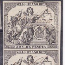 Sellos: ZZ17-FISCALES CLÁSICOS 1879. PAREJA PÓLIZAS USADAS. Lote 114894011