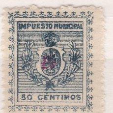 Sellos: CC15-FISCALES LOCALES MADRID 50 CTS * CON FIJASELLOS. Lote 116128363