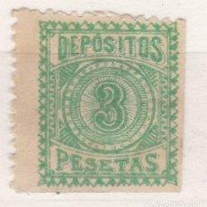 Sellos: CC15-FISCALES LOCÁLES DEPÓSITOS 3 PTAS * CON FIJASELLOS FUERTE. Lote 116128487