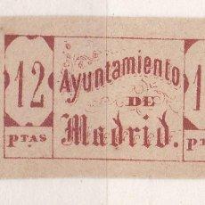 Sellos: CC15-FISCALES LOCALES MADRID 12 PTAS. SIN GOMA . Lote 116128879