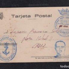 Sellos: 1937.- A CÁDIZ. CRUCERO AUXILIAR JAIME II. Lote 121143627