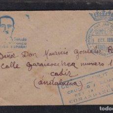 Sellos: 1936.-A CÁDIZ. FRANQUICIA CRUCERO AUXILIAR JAIME II. Lote 121145287