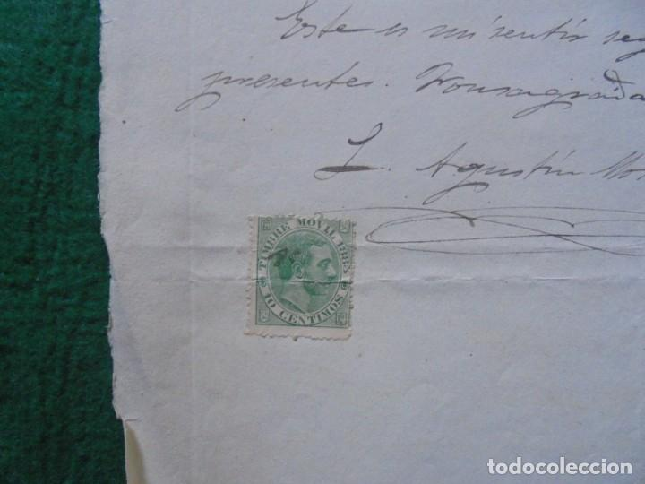 Sellos: Documento oficial sellado Timbre movil 1885, 10 centimos - Foto 1 - 130265362