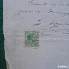Sellos: DOCUMENTO OFICIAL SELLADO TIMBRE MOVIL 1885, 10 CENTIMOS . Lote 130265362