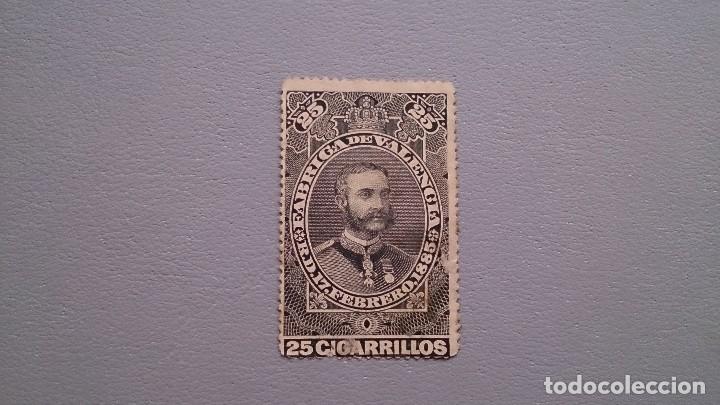 ESPAÑA- 1885 - VIÑETA - FISCAL -TABACOS - MNG - NUEVA-FABRICA DE VALENCIA - R.D. 17 FEBRERO 1885 (Sellos - España - Otros Clásicos de 1.850 a 1.885 - Nuevos)
