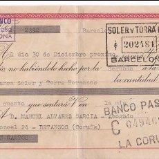 Sellos: F27-46-FISCALES GIRO A BETANZOS CLASE 10ª CON MÓVIL PERFORADO STH. 1947. Lote 133465806