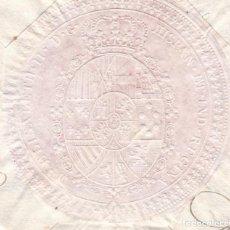 Sellos: F27-46-FISCALES SELLO ANTIGUO ELISABETH II. HISPAN. ET IND. REGINA. Lote 133467098