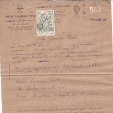 Sellos: F27-52- FISCALES.SINDICATO NACIONAL TEXTIL. ALGODÓN CON PÓLIZA 25 CTS 1941. Lote 133472326