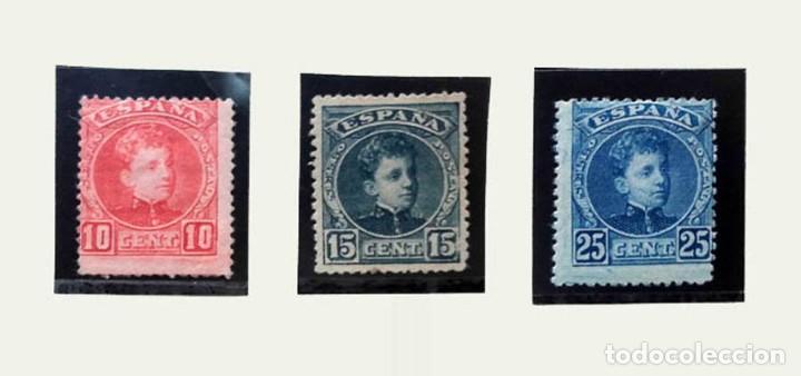 1901, EDIFIL 243, 244 Y 248, 10, 15 Y 25 CÉNTIMOS ALFONSO XIII (Sellos - España - Otros Clásicos de 1.850 a 1.885 - Nuevos)