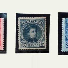 Sellos: 1901, EDIFIL 243, 244 Y 248, 10, 15 Y 25 CÉNTIMOS ALFONSO XIII. Lote 135812502