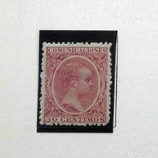 Sellos: 1899, EDIFIL 224, 50 CÉNTIMOS ALFONSO XIII, CON GOMA, CON CHARNELA. Lote 135813394