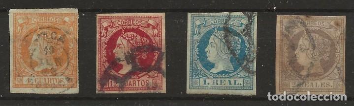 R60/ ESPAÑA 1860-1861, ISABEL II, CATALOGO 54,00€, EDIFIL 52/3 - 55/6 (Sellos - España - Otros Clásicos de 1.850 a 1.885 - Usados)