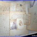 Sellos: AÑO 1866. MADRID. CARTAS MANUSCRITAS DE AMOR DEL SIGLO XIX, CON DOS FOTOGRAFÍAS DE LA ÉPOCA.. Lote 139794610