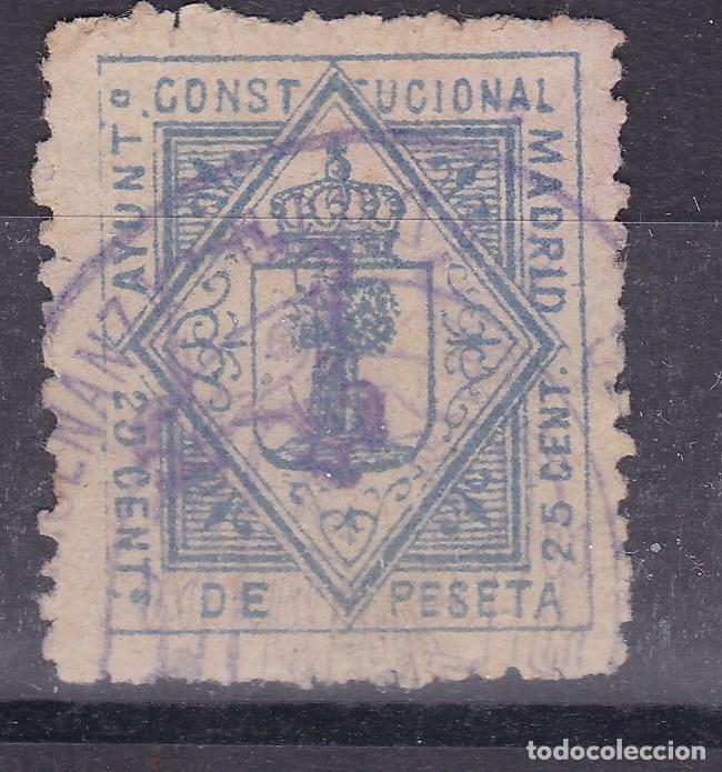 VV5- FISCALES LOCALES MADRID 25 CTS (Sellos - España - Otros Clásicos de 1.850 a 1.885 - Nuevos)