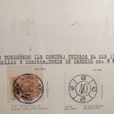 Sellos: CARRETAS MODIFICADAS SIGLO XIX - MALAGA BILBAO Y TARRAGONA - TAL FOTO. Lote 145009272