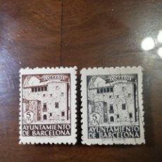 Selos: AYUNTAMIENTO DE BARCELONA AÑO 1943 EDIFIL 42 Y 46??. Lote 145035610
