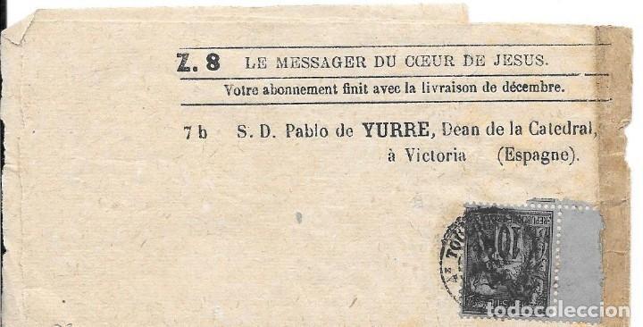 FAJA DE PRENSA. DE TOULOUSSE - FRANCIA A VITORIA. SIGLO XIX (Sellos - España - Otros Clásicos de 1.850 a 1.885 - Cartas)