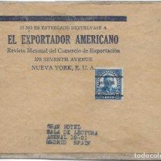 Sellos: FAJA DE PRENSA. DE BALTIMORE - EEUU A MADRID. . Lote 145190714