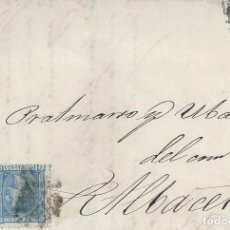 Sellos: CARTA MADRID ALBACETE 1875 IMPUESTO GUERRA BONITO CIERRE FABRICA ESTAMPADOS A REALCE GENEROS LANA . Lote 145415230