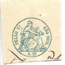 Sellos: PÓLIZA EN SECO, SELLO 3º 4 REALES, 1858.. Lote 150478522