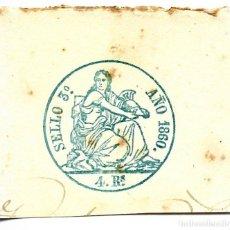 Sellos: PÓLIZA EN SECO, SELLO 3º 4 REALES, 1860.. Lote 150479138