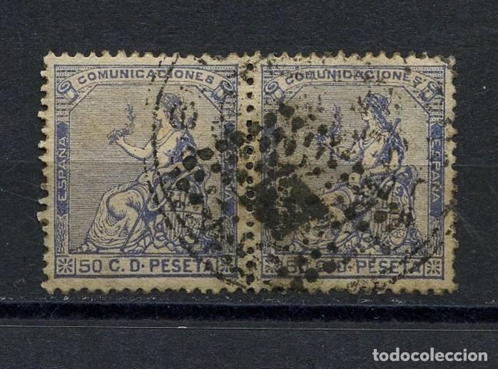 ESPAÑA, SELLO, ALEGORÍA DE LA REPÚBLICA, 50 C, 1873, EDIFIL: 137, PAREJA (Sellos - España - Otros Clásicos de 1.850 a 1.885 - Usados)