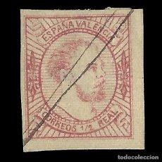 Sellos: SELLOS. ESPAÑA. CORREO CARLISTA. 1874. CARLOS VII. VALENCIA. 16 MV. ROSA. TIPOII. USADO. EDIF. Nº 15. Lote 155165170