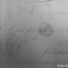 Sellos: ENVUELTA CARTA AÑO 1870 FRANQUICIA S.N. 10 GRAMOS FECHADOR ARZUA CORUÑA Y JUZGADO RARA. Lote 155213438