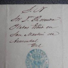 Sellos: CARTA COMPLETA AÑO 1862 MUY RARA POR TRANSITO URGENTE FRANQUICIA JUZGADO DE ARZUA CORUÑA. Lote 155213906