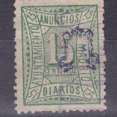 Sellos: CC37- FISCALES LOCALES AYTº MADRID ANUNCIOS 15 CTS . Lote 161241430