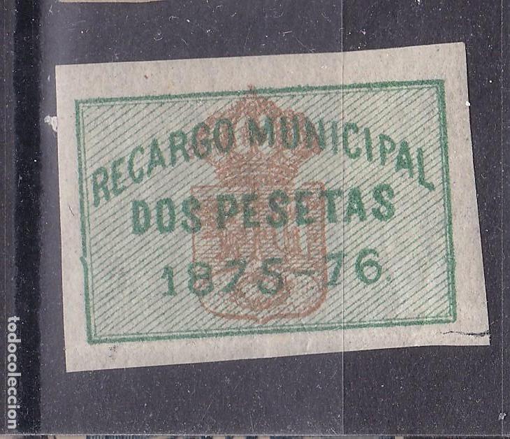 CC37- FISCALES LOCALES AYTº MADRID RECARGO MUNICIPAL 2 PESETAS * 1875/76 (Sellos - España - Otros Clásicos de 1.850 a 1.885 - Nuevos)