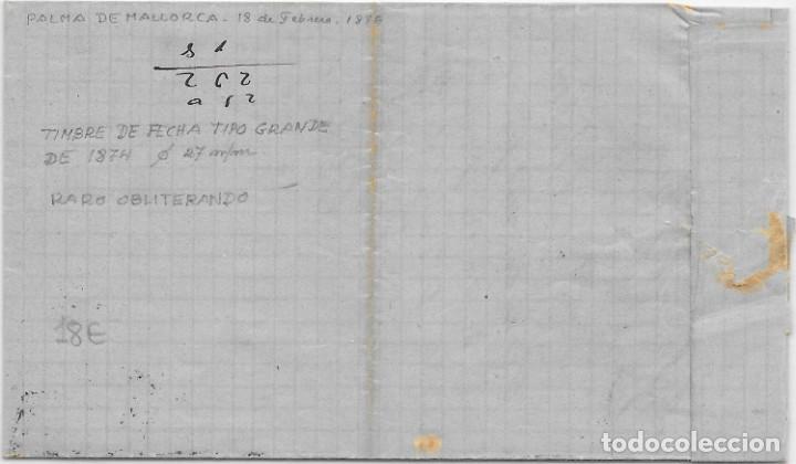 Sellos: EDIFIL Nº 164 - 154. ENVUELTA CIRCULADA DE PALMA DE MALLORCA A BARCELONA. 1876 - Foto 3 - 161701562