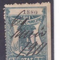 Timbres: MM2-FISCALES IMPUESTO MUNICIPAL MADRID 1911.---- 0.50 PTAS. Lote 162925274