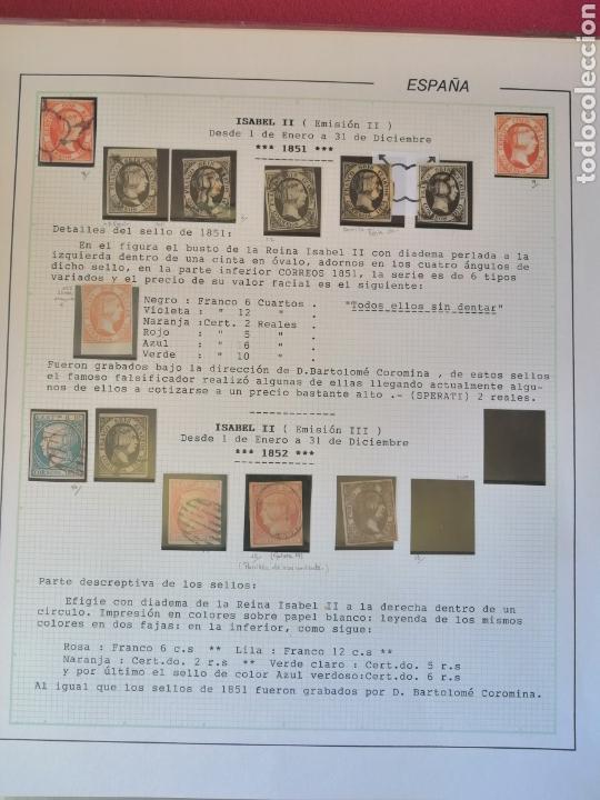 Sellos: Colección España 1850/1899 clásicos siglo XIX 30 hojas años 90 lote tal fotos - Foto 3 - 164513216