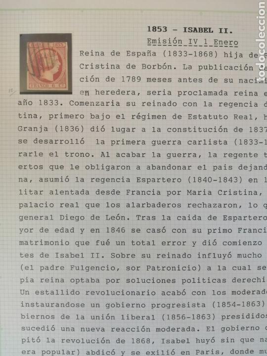 Sellos: Colección España 1850/1899 clásicos siglo XIX 30 hojas años 90 lote tal fotos - Foto 4 - 164513216